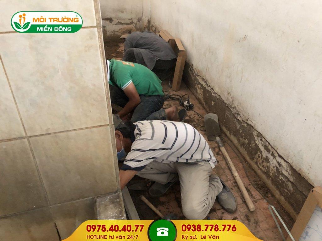 Thi công sửa chữa nhà vệ sinh khu công nghiệp