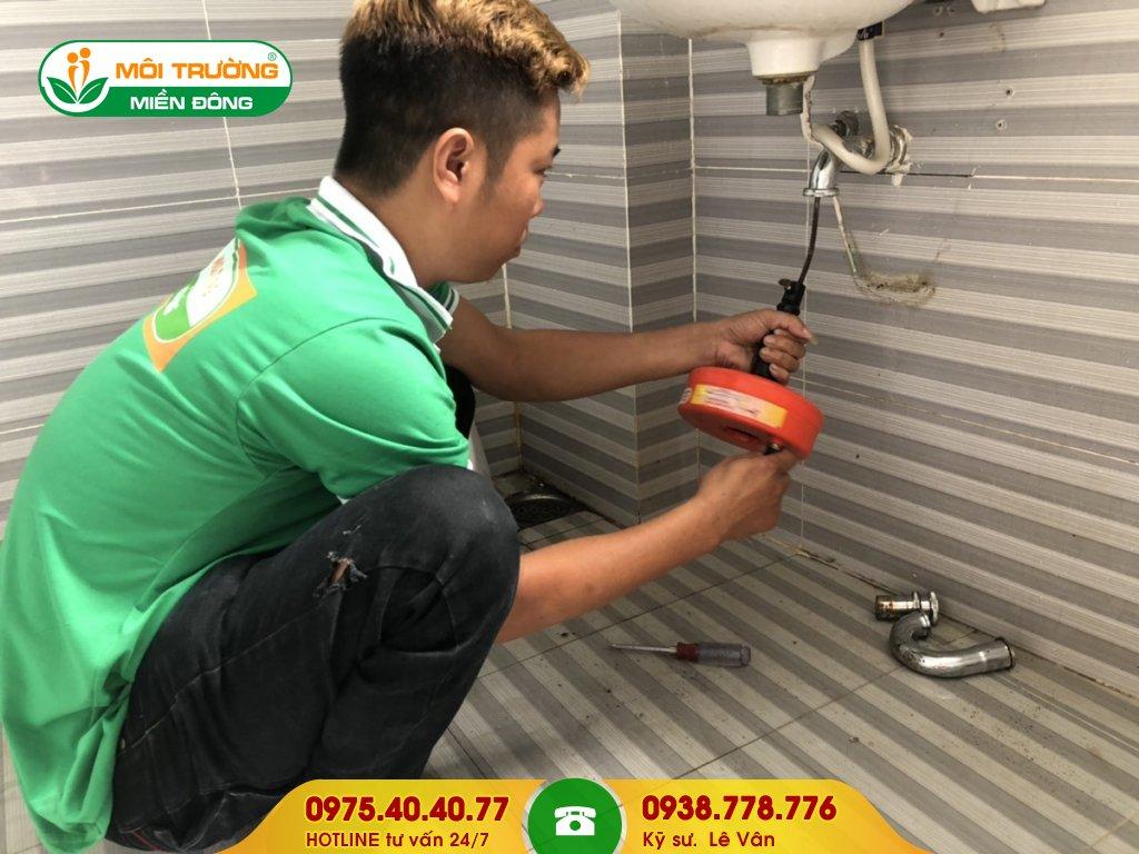 Dịch vụ thông tắc lavabo cụm công nghiệp