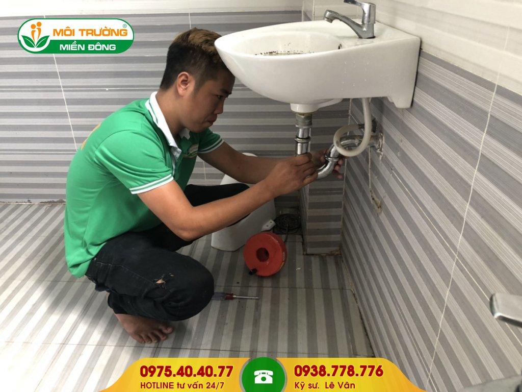 Báo giá thông tắc lavabo cụm công nghiệp