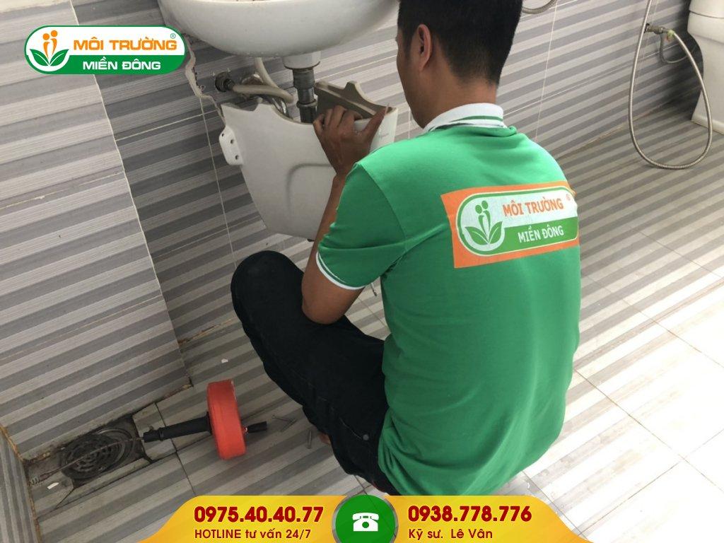 Dịch vụ thông tắc lavabo xí nghiệp