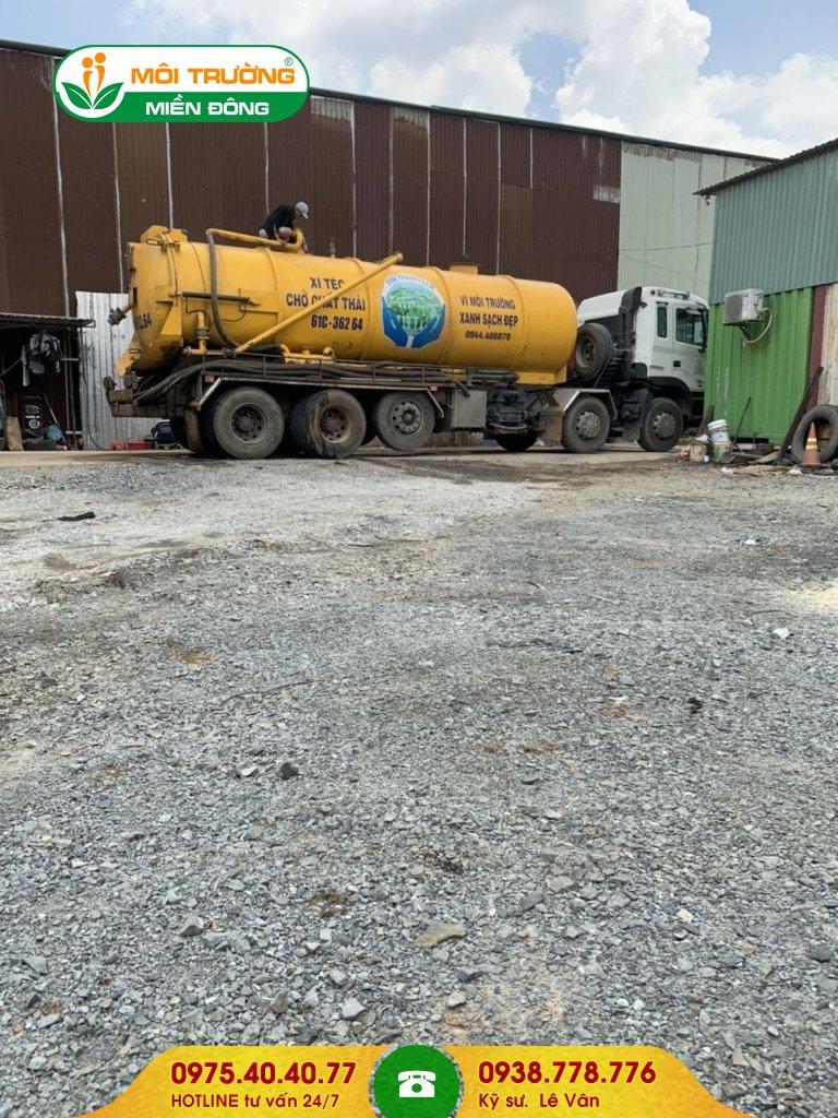 Đơn giá hút bùn thải công nghiệp