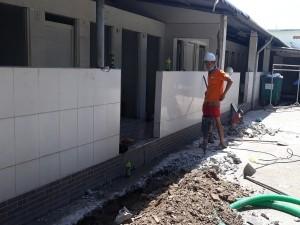 Xây nhà vệ sinh khu công nghiệp